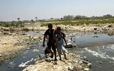 BEACHES OF THE GAZA SEA ARE CONTAMINATED