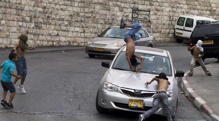 TWO PALESTINIANS DIED AFTER BEING RUN OVER BY EXTREMIST JEWISH DRIVEN CAR
