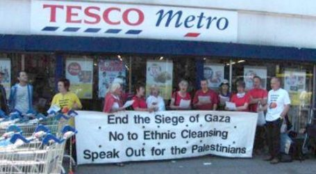 BRITAIN'S LARGEST SUPERMARKET CHAIN TESCO BOYCOTTS PRODUCTS FROM OCCUPIED WEST BANK