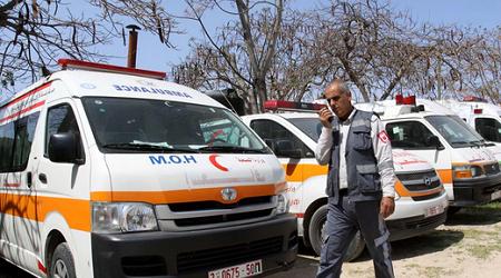 GAZAN AMBULANCES STOP WORKING DUE TO CRISIS
