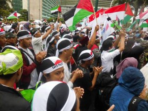 INDONESIAN PEOPLE  RALLIES  FOR PALESTINE ACROSS COUNTRY