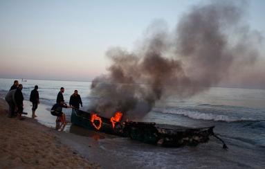 ISRAEL REDUCES FISHING AREA FOR GAZA FISHERMEN