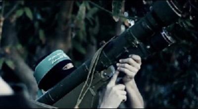 QASSAM SHOOTS ISRAELI F16 WARPLANE