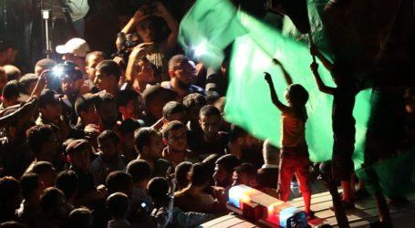 EUPHORIA IN WEST BANK OVER GAZA 'VICTORY'