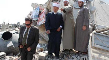 EGYPTIAN AL-AZHAR DELEGATION VISITS GAZA'S SHEJAIYA