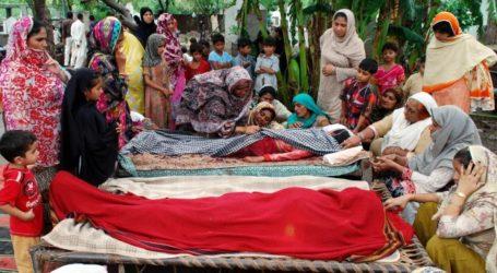 AT LEAST 150 DEAD IN FLOODS IN NORTHEASTERN PAKISTAN