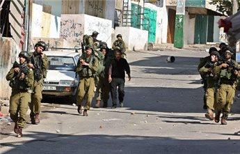 ISRAELI FORCES DETAIN SEVEN IN NABLUS REFUGEE CAMP