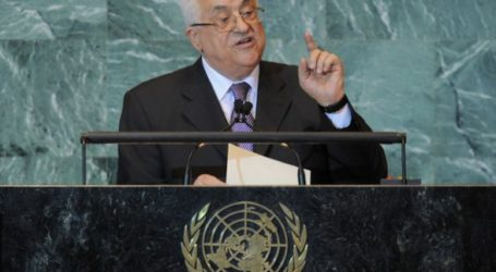 ABBAS CALLS ON WORLD COMMUNITY TO SUPPORT PALESTINIAN STATE BID FOR UN MEMBERSHIP