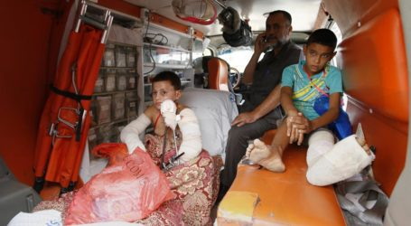 45 INJURED CHILDREN LEAVE GAZA FOR MEDICAL TREATMENT IN GERMANY AND AUSTRIA