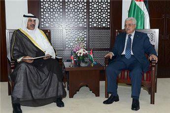 KUWAITI FM MEETS PALESTINIAN PRESIDENT IN WEST BANK