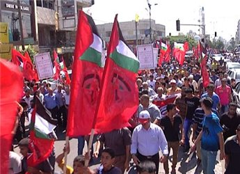 GAZA MARCH CALLS FOR SAVING NATIONAL UNITY