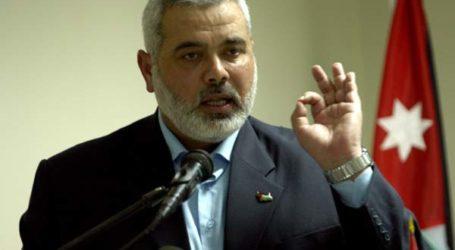 HANIYEH: HAMAS WILL NOT TRADE ARMS FOR GAZA RECONSTRUCTION