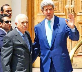 KERRY DISCUSSES ISIS WITH ARAB LEAGUE CHIEF