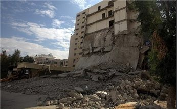 GAZA MINISTRY DISTRIBUTES CEMENT TO REBUILD HOMES