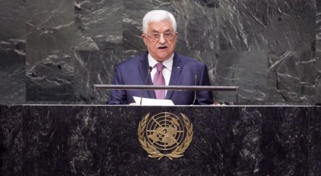 ABBAS URGES SUPPORT FOR UN RESOLUTION TO END OCCUPATION