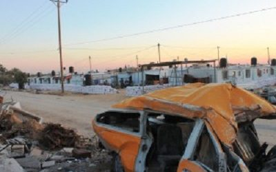 GAZANS SPEND WINTER IN CONTAINERS