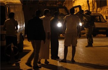 ISRAELI FORCES DETAIN PALESTINIAN, SEARCH HOMES IN NABLUS
