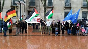 SIT-INS IN GERMANY AND ITALY IN SOLIDARITY WITH GAZA