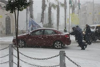 SNOW AND WIND PUMMEL PALESTINE BUT LIGHTS STAY ON, SO FAR
