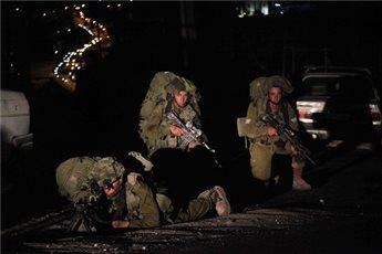 ISRAELI FORCES DETAIN THREE PALESTINIANS IN NABLUS DISTRICT