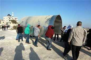PALESTINIAN ACTIVISTS ERECT PROTEST TENTS IN SOLIDARITY WITH BEDOUIN