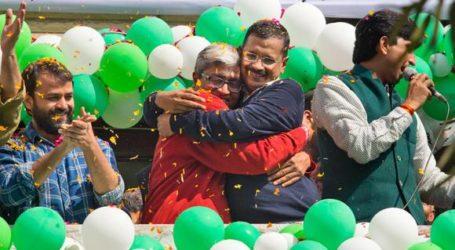 INDIAN MUSLIMS CELEBRATE AAP VICTORY