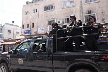 PA FORCES RAID OFFICE OF TWO PALESTINIAN MPS
