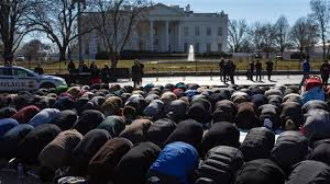 PROTESTERS AT WHITE HOUSE CONDEMN KILLING OF 3 MUSLIM STUDENTS