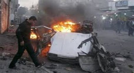 HAMAS OFFICIAL CAR TORCHED IN GAZA: RIGHTS GROUP