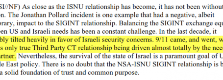 NETANYAHU'S SPYING DENIALS CONTRADICTED BY SECRET NSA DOCUMENTS