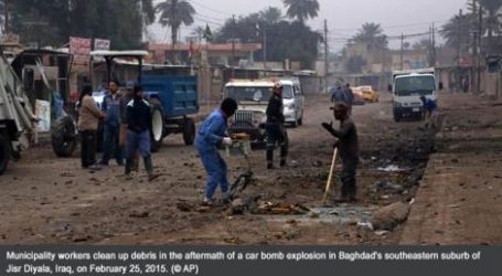 BOMBINGS, MORTAR ATTACKS CLAIM 16 LIVES IN IRAQ