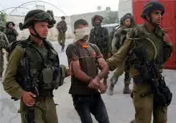 ISRAELI FORCES DETAIN FOUR PALESTINIANS NEAR NABLUS