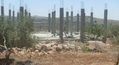ISRAEL ORDERS CONSTRUCTION WORK ON MOSQUE IN TUBAS TO STOP