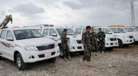 TURKEY DELIVERS 15 TRUCKS TO PESHMERGA FIGHTING ISIS
