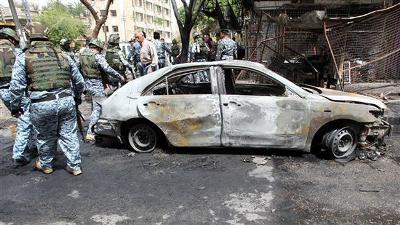 20 KILLED IN BOMB ATTACKS IN AND AROUND BAGHDAD