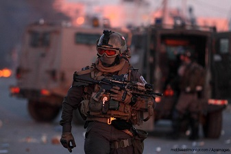 GAZAN RESISTANCE MONITORS ISRAELI INFILTRATION ATTEMPT