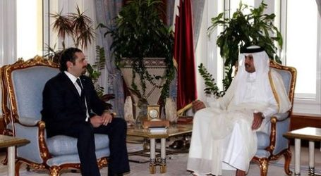 HARIRI VISITS QATARI EMIR, STRESSES 'ARAB UNITY'