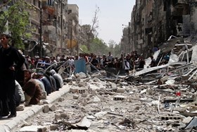 UNRWA URGES SYRIA TO HALT MILITARY OPERATIONS ON YARMOUK CAMP