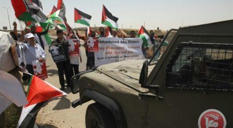 PALESTINIANS COMMEMORATE MURDER OF TEENAGER ABU KHDEIR