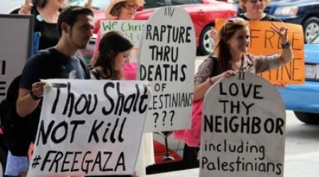 JEWS PROTEST ISRAELI POLICY IN WASHINGTON