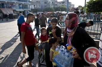 ISRAEL PREVENTS JERUSALEMITE FROM GETTING WATER