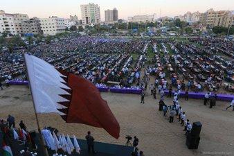 QATARI CHARITY HOLDS GROUP IFTAR IN GAZA