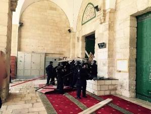 CLASHES AS ISRAELI FORCES STORM AL-AQSA MOSQUE