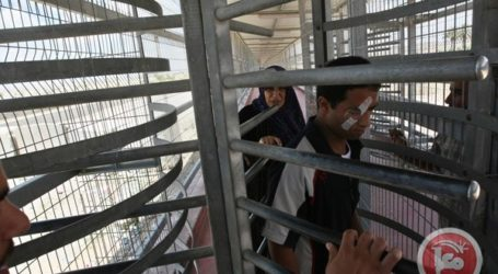ISRAELI FORCES DETAIN GAZAN TRAVELING TO WB