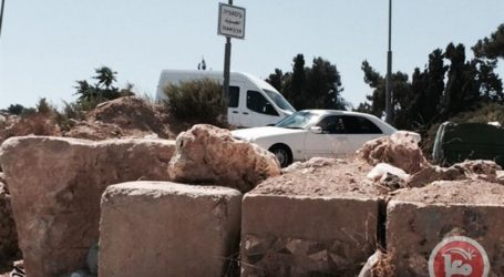 ISRAELI FORCES CLOSE 3 OF 4 ENTRANCES IN EAST JERUSALEM'S ISSAWIYA