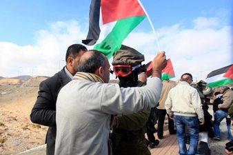 HEBRON PALESTINIANS PROTEST SETTLERS' SEIZURE OF HOSPITAL