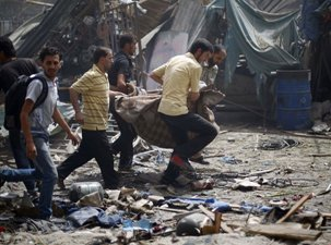 SYRIA: AT LEAST 100 KILLED AFTER RAIDS ON DAMASCUS SUBURBS