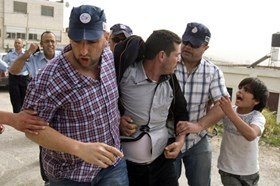 ISRAELI FORCES DETAIN 25 PALESTINIANS; SEIZE PROPERTY FROM WEST BANK