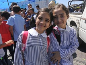 AFTER DELAY, CLASSES BEGIN AT UNRWA SCHOOLS IN GAZA