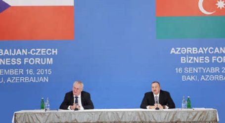 AZERBAIJAN PRESIDENT NOTED MEETINGS BUSINESSMEN OF TWO COUNTRIES